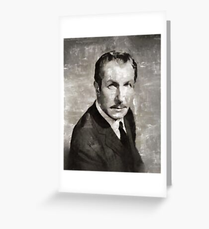 Vincent Price Hollywood Actor Greeting Card