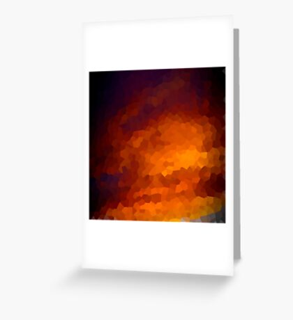 pixel sunset Greeting Card