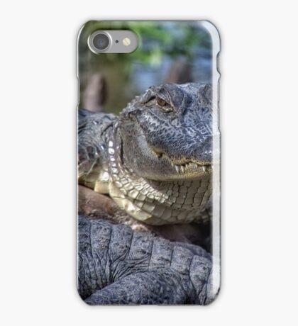 Smiling Sam The Gator Man iPhone Case/Skin