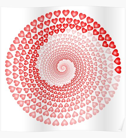 HEART, WHIRLPOOL, Hearts, Romance, Love, St Valentines Day Poster