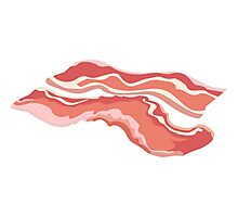 Glitch Food bacon Photographic Print