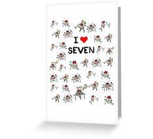I love Seven ,Mystic Messenger  Greeting Card