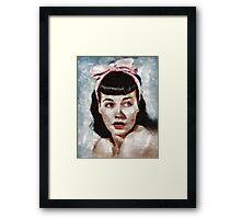 Bettie Page Pinup Star Framed Print