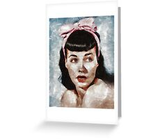 Bettie Page Pinup Star Greeting Card