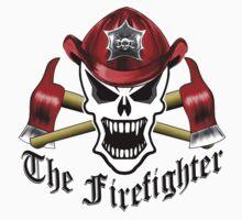 Fire Fighter Skull 2.12 Kids Tee