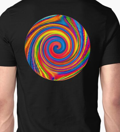 HIPPY, WHIRLPOOL, Prismatic, Psychedelic, Trip, Hippies, Colourful Unisex T-Shirt