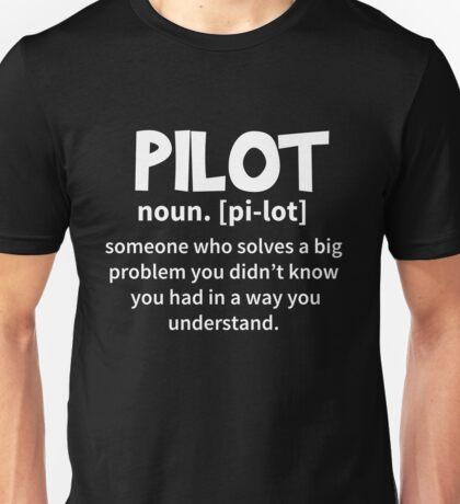 T-Shirt Funny Pilot Definition Unisex T-Shirt