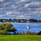 Rhode Island shore by Nancy Richard