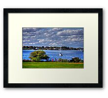 Rhode Island shore Framed Print