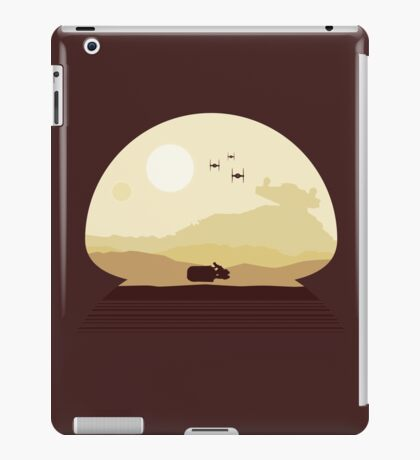 Rey Speeder on Jakku iPad Case/Skin