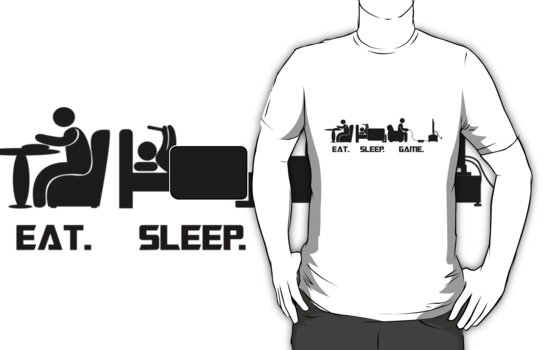 Eat.Sleep.Game. T-Shirt by CroDesign