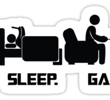 Eat.Sleep.Game. T-Shirt Sticker
