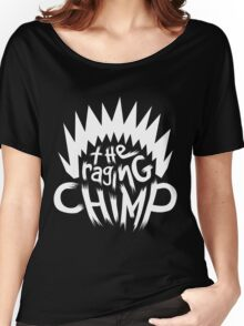 The Raging Chimp | Logo White Women's Relaxed Fit T-Shirt