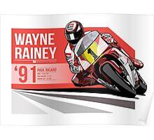 Wayne Rainey - 1991 Paul Ricard Poster