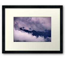 Ammer Mountain Peaks Framed Print