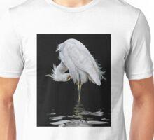 Snowy Egret Preening Unisex T-Shirt