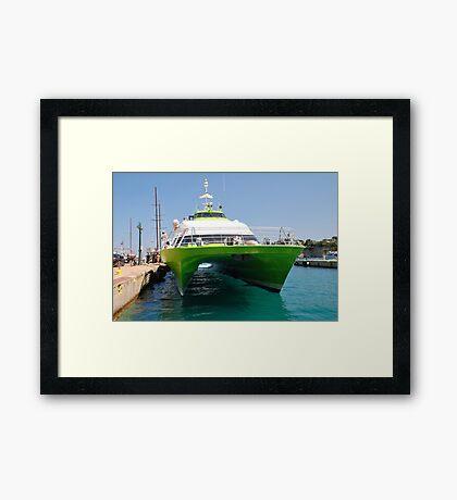 Alonissos ferry, Greece Framed Print