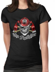 Firefighter Skull 6.5 Womens Fitted T-Shirt