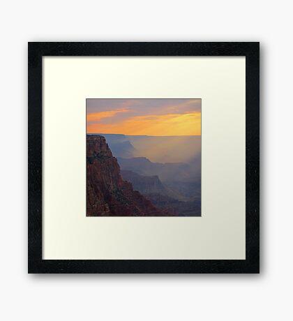 Beautiful Grand Canyon Sunset Framed Print