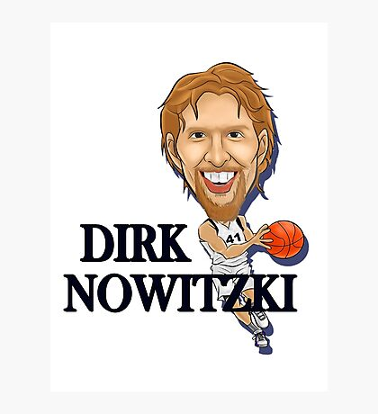 Dirk Nowitzki design Photographic Print