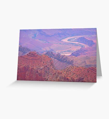 Colorado River Grand Canyon View Greeting Card