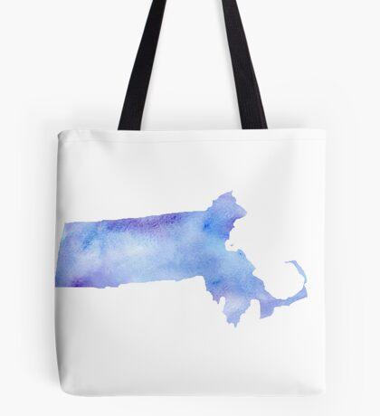 Massachusetts Watercolor Tote Bag