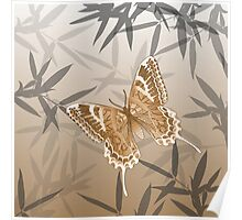 Beautiful Copper Butterfly Design Poster