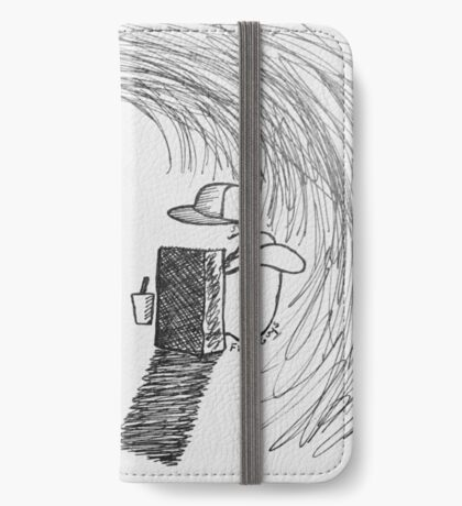 Reportage Sketch: Five Guys 1-10-17 iPhone Wallet/Case/Skin
