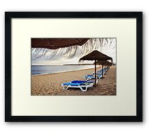 Relax in the beach Framed Print