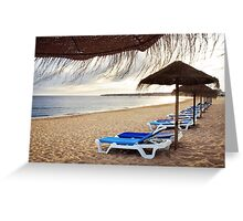 Relax in the beach Greeting Card