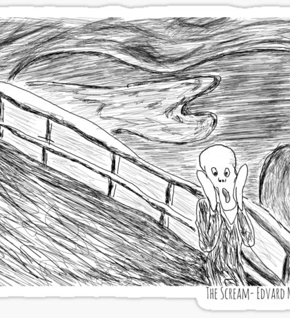 The Scream- Edvard Munch Sticker