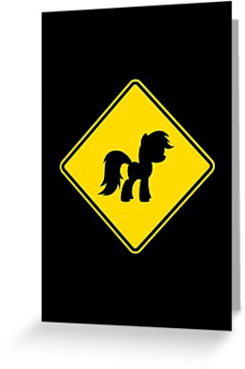 Pony Traffic Sign - Diamond by graphix