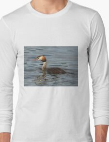 Great Crested Grebe Long Sleeve T-Shirt