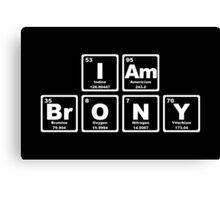 I Am Brony - Periodic Table Canvas Print