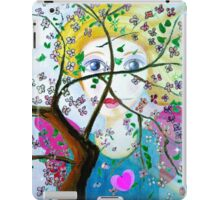 There's an angel behind the blooming tree iPad Case/Skin
