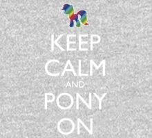 Keep Calm and Pony On - Black Kids Clothes