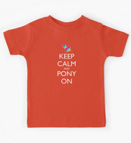 Keep Calm and Pony On - Black Kids Tee