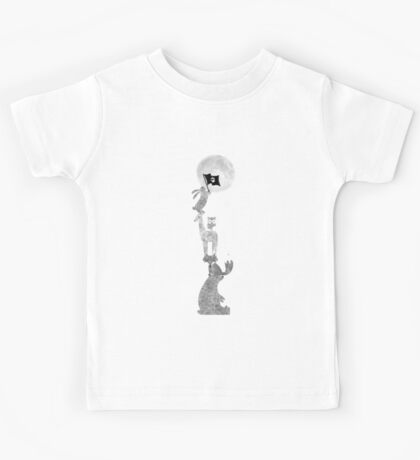 Conquering The Moon - black and white Kids Tee