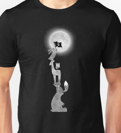 Conquering The Moon - black and white Unisex T-Shirt