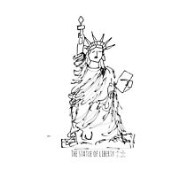 The statue of liberty Photographic Print