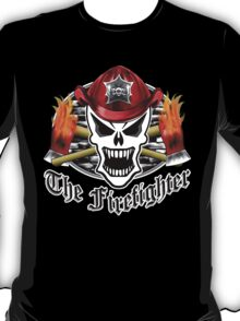 Fire Fighter Skull 2.7 T-Shirt
