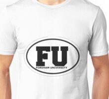 Fordham University Oval  Unisex T-Shirt