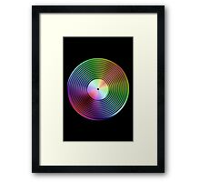 Vinyl LP Record - Metallic - Rainbow Framed Print
