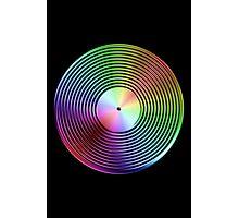 Vinyl LP Record - Metallic - Rainbow Photographic Print