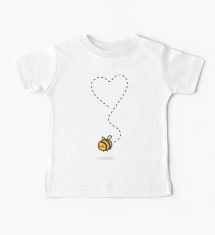 Bee Heart - White Baby Tee