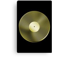 Vinyl LP Record - Metallic - Gold Canvas Print