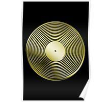 Vinyl LP Record - Metallic - Gold Poster