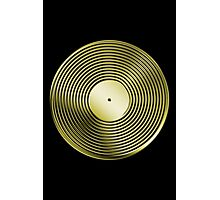 Vinyl LP Record - Metallic - Gold Photographic Print