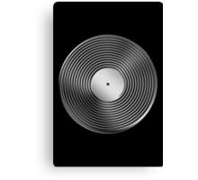 Vinyl LP Record - Metallic - Steel Canvas Print