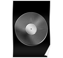 Vinyl LP Record - Metallic - Steel Poster